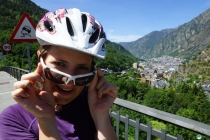 Susanne with Andorra in the background.
