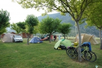 Camping in Organya after a 66 km downhill from Andorra.