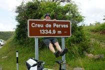 Reaching the top of Creu de Perves.