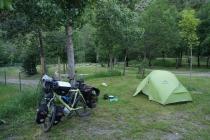 Camping in Benasque.