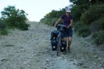 Taking the shortest road on our way to Monastery San Juan de la Pena.