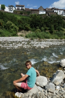 Chilling at river Veral.