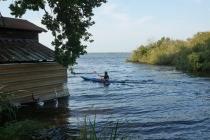 Canoeing Martin.
