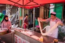 A muslim restaurant where fresh noodles are made