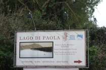 Lago di Paolo, our campplace
