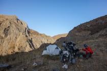 Camping at 2600 meters altitude