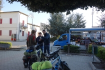At small town Poggiorsini with interested guys