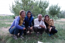 Farmer with daughters Mina and Leila
