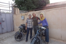 Staying with Warmshowers host Mohsen who picked us from the road