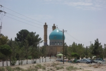 Pretty mosque on the road