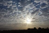 Beautiful sunrise over Iran