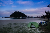 Perfect camping on the beach