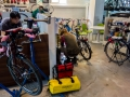 Changing bottom brackets at bicycle shop