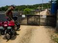 Blocked road, military terrain
