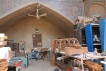 At the Khan school in Shiraz, restoration