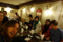 Dinner with other travellers