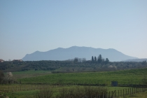 View of mountains approaching Rome