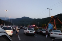 A lot of traffic in Gorgan during nighttime!