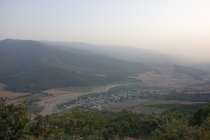 View from hilltop