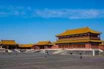On the grounds of the forbidden city