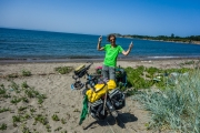 First dip in Black Sea!
