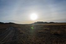 Desert roads Mongolia