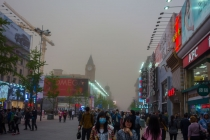 Sandstorm on its way from the Gobi desert