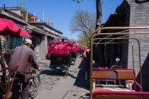 Pedicab through Hutong streets