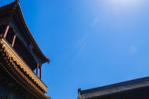 Roof at Yonghe Lama temple