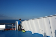 On the ferry to Durres