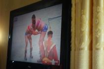 Wrestling on the TV
