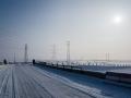 Service road outside Urumqi