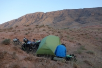 Camping with great mountains