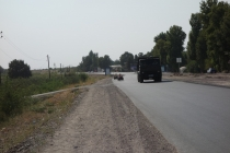 On the road to Dushanbe