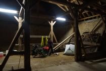 Staying in medieval shed in Wahlheimer Hof