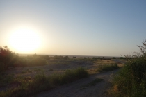 Sunset over Urmia lake