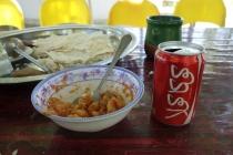 Food at roadside restaurant