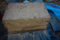 Mud and straw brick for natural house
