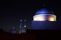 Old city of Yazd by night