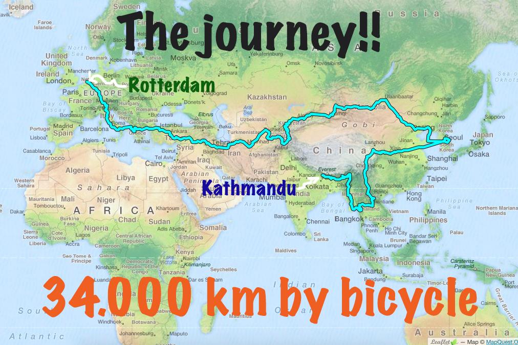 The journey Rotterdam to Kathmandu (Statistics)