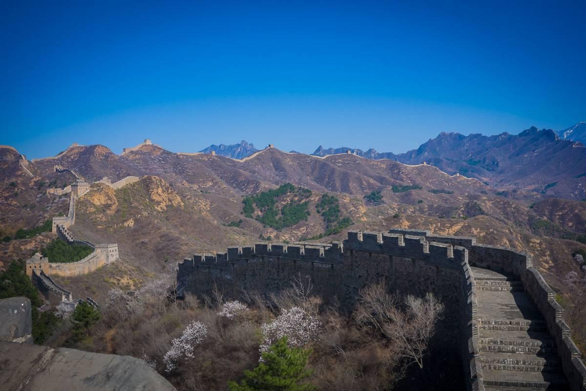 The Great Wall hike at Jinshanling/Gubeikou