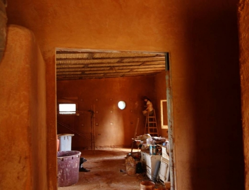 New experiences with a straw bale house